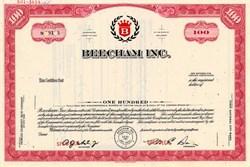 Beecham Inc. (Became GlaxoSmithKline)  - New Jersey