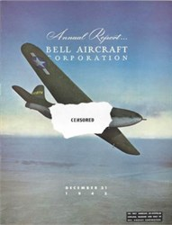 Bell Aircraft Corporation Annual Report 1943 - First American Jet (WWII Censored) on Cover