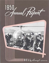 Bell Aircraft Corporation Annual Report 1950 - Cover shows Bell H-13D Helicopter in Korea