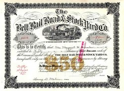 Belt Rail Road & Stock Yard Co. 1936 - Indiana
