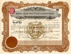Ben-Hur Motor Company - Delaware 1916