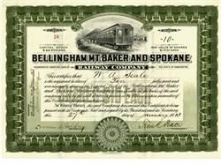 Bellingham, Mt. Baker & Spokane Railway Co. - Washington 1913
