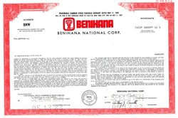 Benihana National Corp. (Japanese food) - Delaware 1983