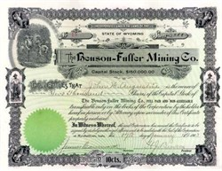 Benson - Fuller Mining Co. 1903 - Wyoming