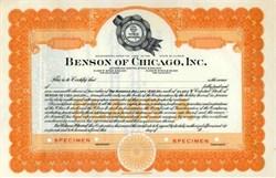 Benson of Chicago, Inc.