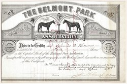 Belmont Park Association (Belmont Driving Park) - Merion, Pennsylvania - 1878