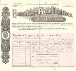 Beechams Pills Limited  (Became GlaxoSmithKline) - England 1938