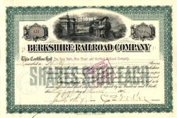 Berkshire Railroad Company - Massachusetts 1906