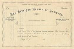 Berrigan Separator Company 1890's