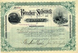 Beecher Schenck and Company (Indicted for Gross Fraud) - New Jersey 1893