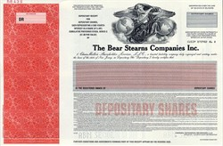 Bear Stearns Companies Inc. ( RARE Specimen Depository Share Certificate ) - Delaware 1998
