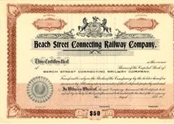 Beach Street Connecting Railway Company - Pennsylvania