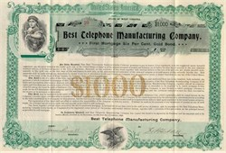 Best Telephone Manufacturing Company - West Virginia 1896