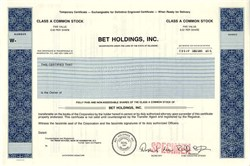 BET Holdings, Inc. - Delaware ( Black Entertainment Television )