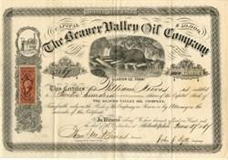 Beaver Valley Oil Company ( Beaver Vignette) - Clarion County, Pennsylvania - 1867