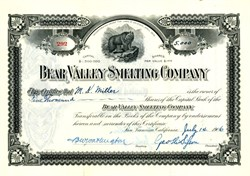 Bear Valley Smelting Company - San Francisco, California 1906