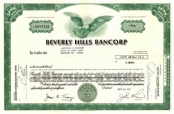 Beverly Hills Bancorp - California