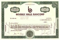 Beverly Hills Bancorp - California 1972