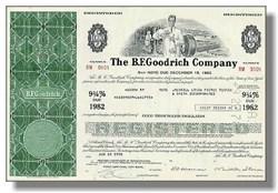 B.F. Goodrich Tire Company Bond Certificate