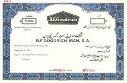 B.F. Goodrich Iran, S.A .(Pre Islamic Revolution Terror Regime )  - 1959