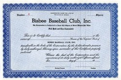Bisbee Baseball Club, Inc - Arizona