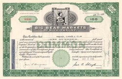 Big Bear Markets - Bear Vignette - Michigan 1955