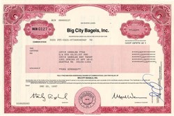 Big City Bagels, Inc. - New York 1997