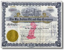 Big Indian Oil and Gas Company  - Wyoming 1922