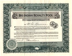 Big Indian Royalty Pool - Oklahoma 1930
