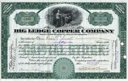 Big Ledge Copper Company - Arizona 1916