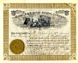 Big Mike Gold Mining Company - Teller. Cripple Creek, Colorado 1900