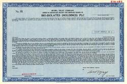 Bio-Isolates (Holdings) PLC - New York 1983