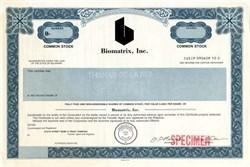 Biomatrix, Inc. - Delaware