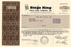 Bingo King Company - Colorado 1981