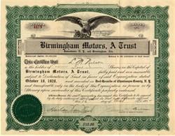 Birmingham Motors - Jamestown, New York and Birmingham, Alabama - 1922