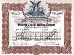 Bingham Central Railway Company Utah 1909