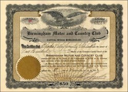 Birmingham Motor and Country Club 1913