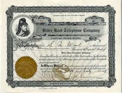 Bitter Root Telephone Company - Hamilton, Montana 1908