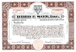 Bird & Son, Inc. - East Walpole, Massachusetts