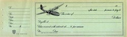 China Clipper Airplane Vignette - Promissory Note