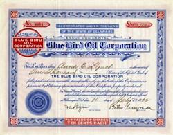 Blue Bird Oil Corporation (Unique Bluebird Border) - Delaware 1922