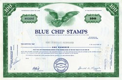 Blue Chip Stamps, Inc. (Acquired by Berkshire Hathaway) - California