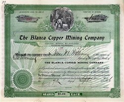 Blanca Copper Mining Company - New Mexico. Grant. Bear Mountain - 1906