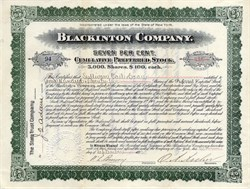 Blackinton Company -Blackinton, Massachusetts - 1893