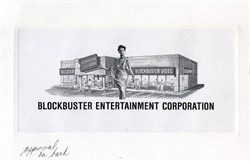 Blockbuster Entertainment Corporation -  Final Printer's Proof for Vignette - Unique and RARE - 1989