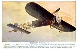 Bleriot Monoplane Litho postcard