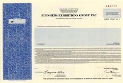 Blenheim Exhibitions Group PLC - England 1990