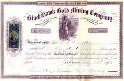 Black Hawk Gold Mining Company - Black Hawk, Colorado Territory - 1872