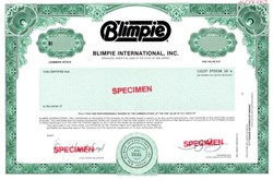 Blimpie International, Inc. - New Jersey
