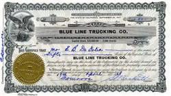 Blue Line Trucking Company - San Francisco, California 1927